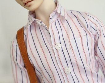 SAYOKO outfit for LUTS dollfie 1/4 BJD Doll - Striped shirt (No.A672)