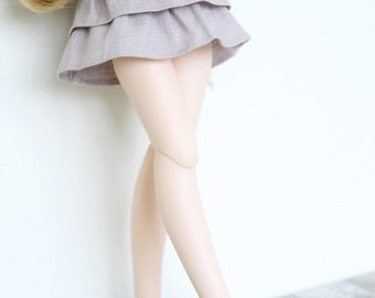 SAYOKO outfit fit 10/13 SD super dollfie 1/3 BJD - Double cake skirt - Gray (No.B366)