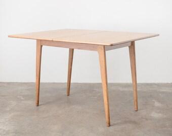 Mid Century Modern Oak Folding Dining Table