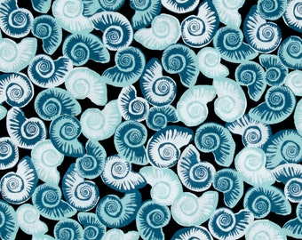 Blue Sea Shells from Andover's Tides Collection By Jane Dixon