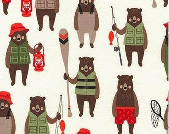 Brawny Bears Adventure Red from Robert Kaufman by Andie Hanna