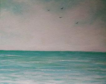 "Aqua Ocean Scene 12 x 12"""
