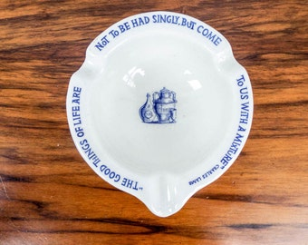 Vintage Porcelain Sharp Dohme Mortar Herb Dish Charles Lamb Blue and White Pottery, Unique Gift Ideas for Scientist, Medical Present