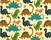 SHOP CLOSING SALE Michael Miller fabric by the yard Old Friends in Pistachio 1 Yard