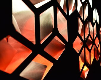 Impulse - Metal Wall Art - Lighted Wall Art - Geometric Wall Art - Metal Wall Sculpture - Modern Wall Art - Abstract Art - LED Art