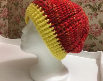 Autumn Mums Cabled Slouchy Hat