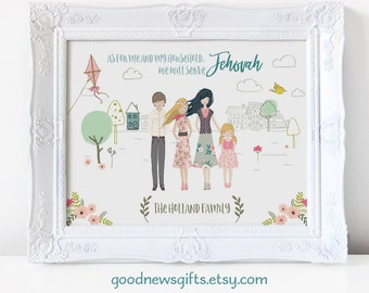 Personalized Family Portrait - printable digital graphic