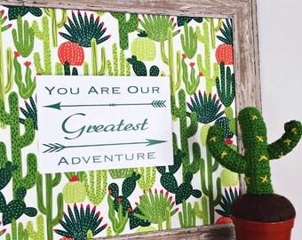 Cactus Nursery Art, Cacti Nursery, Southwest Nursery, Boy Nursery, Boy Cactus Bedroom, Arrow Nursery Art, Teepee Nursery Decor, Playroom Art