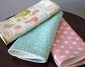 Girl Woodland Burp Cloth Set