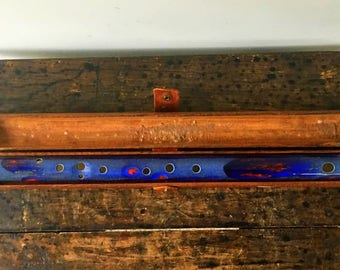 Vintage Ceramic Flute/Fife  With Hinged Wood Case