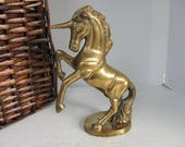 Vintage Brass Unicorn