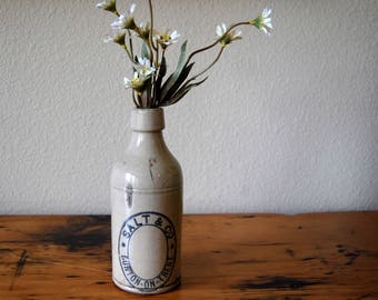 Vintage Salt & Co. Burton On Trent Stoneware Beer Bottle Vintage Stoneware Bottle Antique Stoneware Beer Bottle from The Eclectic Interior