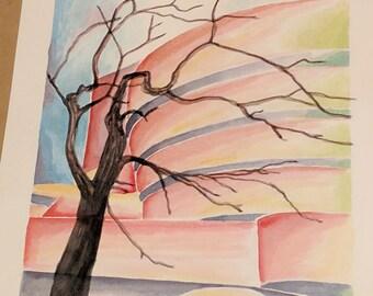 Springtime Guggenheim - Original Watercolor