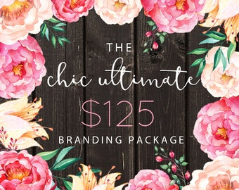 Custom Logo Design Package with Logo, Banner, Avatar & Business Card Small Business and Photography Branding Package Marketing Package OOAK
