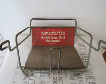 Vintage Baby-Nester Metal Children's Booster Chair