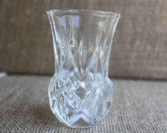 glass toothpick holder clear glass tiny vase