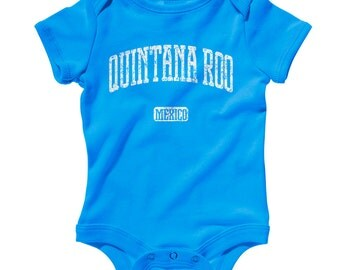 Baby One Piece - Quintana Roo Mexico - Infant Romper - NB 6m 12m 18m 24m - Baby Shower Gift, Cancun Baby, Playa del Carmen, Chetumal Baby