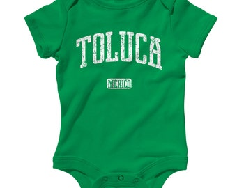Baby One Piece - Toluca Mexico Infant Romper - NB 6m 12m 18m 24m - Baby Shower Gift, Toluca Baby, Toluca de Lerdo, FC, Deportivo, Mexican