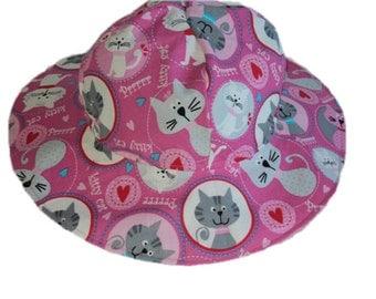 Baby Sun Hat - Toddler Sun Hat - Girls Sun Hat - Summer Hat - Infant Sun Hat - Cotton Sun Hat - Beach Hat - Girls Floppy Hat- Made To Order