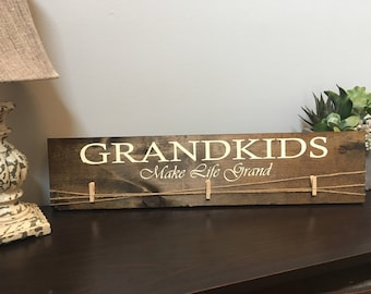 Grandkids picture sign