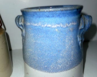 Pottery, Handmade Pottery, Kitchen Utensils , Crock, Blue and White Pottery