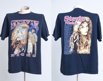 90s Stevie Nicks Tour Bootleg Black Cotton T Shirt