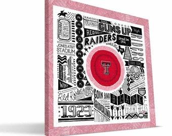 Texas Tech Red Raiders 16x16 Pictograph Canvas Print