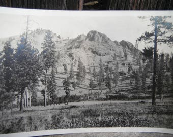 VIntage Snapshot Photo - Beautiful Rugged Mountain Scape