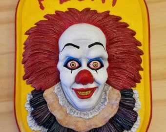 Pennywise the Dancing Clown Wall Hanging Sculpture Plaque