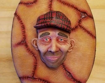 Ed Gein Wall Hanging Sculpture Plaque