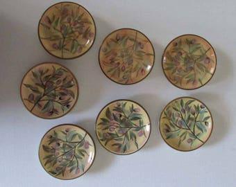 Vintage Oil & Vinegar Dipping Plate by Certified International Margaret Le Van Designs Set of 7 Plates