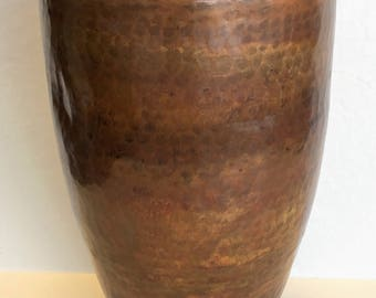 Hand Hammered Copper Vase
