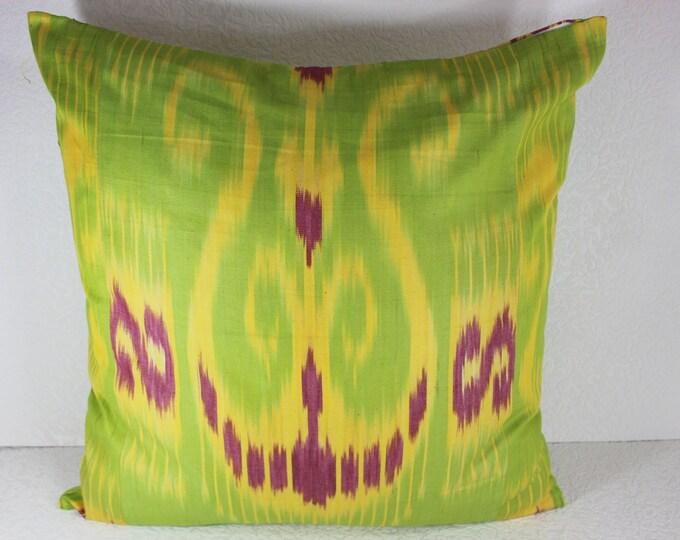 Cotton Ikat Pillow, Ikat Pillow Cover,  C151, Ikat throw pillows, Designer pillows, Decorative pillows, Accent pillows