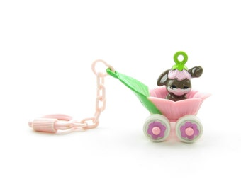 Charmkins Bunny Bunch & Petal Pusher Jewelry Charm Vintage Hasbro Charmkin Belt Loop Hanger