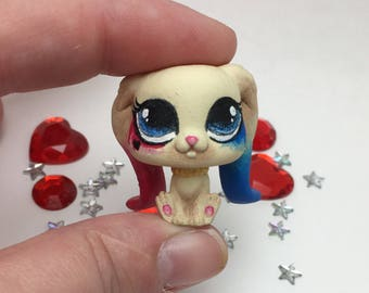 Cute Kawaii Custom Littlest Pet Shop Harley Quinn Bunny
