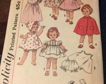 "Simplicity 4210,  wardrobe for 22 1/2"" ,  Kissy Doll, Doll clothes"