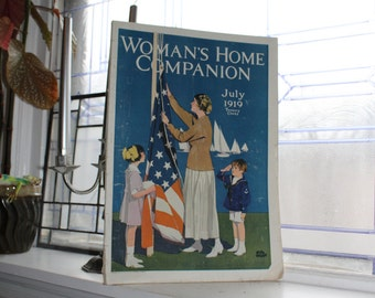 Vintage Woman's Home Companion Magazine July 1919