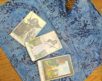 TAROT ALTAR CLOTH DRaGONS SPreADCLOTH for TaRot ReADINGS ALtAR COvER WiCCAN ORaCLE CArDS