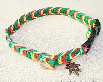 Hemp Rasta 420 Pet Collar Adjustable
