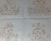 No 5097 kiddie block duck bear squirrel and puppy kid quilt embroidery block