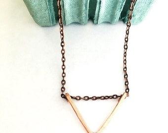 Copper Triangle Necklace
