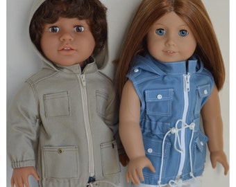 Hooded Anorak Jacket  Fits 18 Inch Dolls Such as American Girl™ and My Pal®