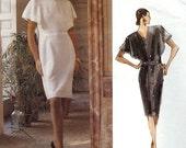 ON SALE NOW Pattern Vogue 2303 Givenchy Dress button back semi fitted capelet style Size 6-8-10 Paris Original uncut