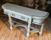 1/12 scale dollhouse sofa table handpainted distressed dollhouse miniatures