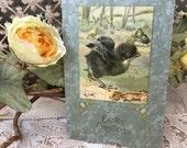 Sweet Art Nouveau Era Postcard with Little Chicks