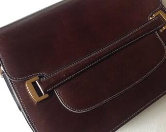 Vintage brown Bag Paris Celine style 1970
