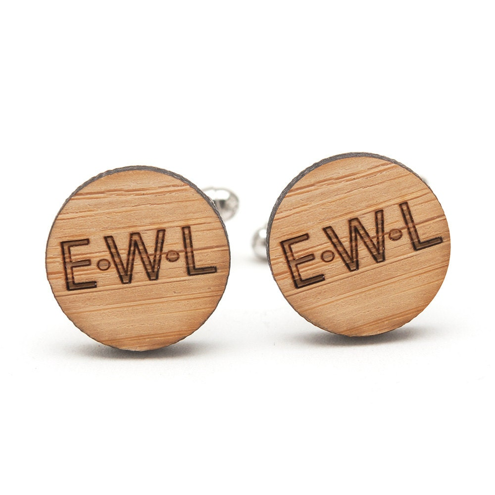 Monogrammed Cufflinks Wedding Gifts For Groom Best Man And