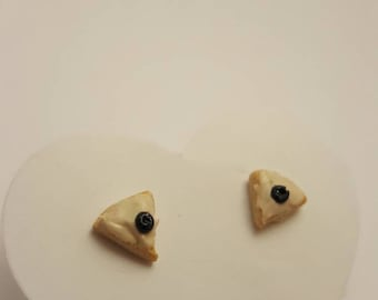 SALE - Blueberry Cake Stud Earrings - Handmade Polymer Clay