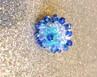 Blue Crystal Cocktail Ring Adjustable in 3 Blue Shades on Etsy-Ladies Gift-Gift For Her-Ladies Jewellery-Womens Jewellery-Handmade Gifts