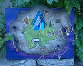 """16""""x20"""" Neverland Map mixed media canvas painting"""
